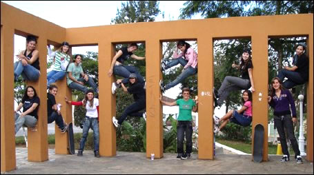 Skatistas participantes da Tour em Cruzilia, nesse ano